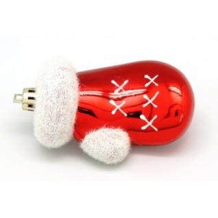 Игрушка пластиковая варежки красные с белым 16008