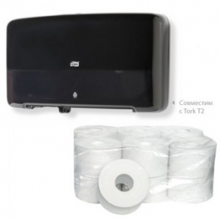 Бумага туалетная д/дисп Style 1сл белая вторич с втул 200м 12рул/уп
