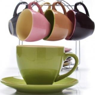 Сервиз чайный 6 чашек(220мл)+ 6 блюдец на подставке LR(х6) (27320)