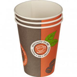 Стакан одноразовый бум однослойный d-90мм 300мл Coffee-to-Go 50шт/уп