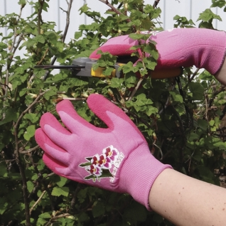 Перчатки для садовых работ. Аксессуары Duramitt Перчатки садовые Garden Gloves Duraglove розовые, размер M NW-GG