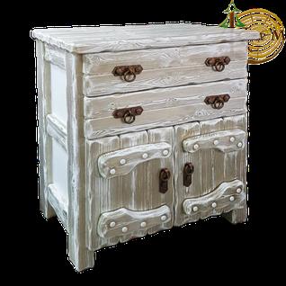 Комод деревянный Барин 1 (2 ящика+2 двери) с элементами ковки