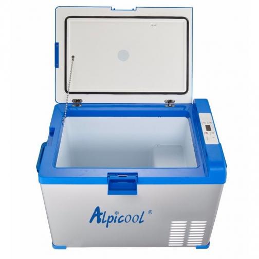 Kомпрессорный автохолодильник ALPICOOL ABS-40 синий (40л, 12/24/220В) 36971479