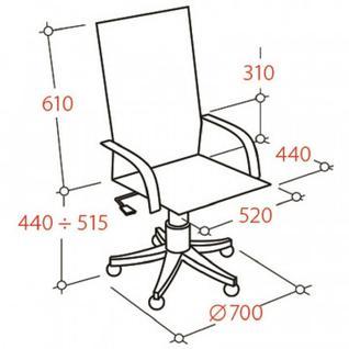 Кресло BN_Hg_EСhair-571 TTW сетка черная, хром