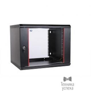 Цмо ЦМО! Шкаф телеком. настенный разборный 9U (600х520) дверь стекло, цвет черный (ШРН-Э-9.500-9005)