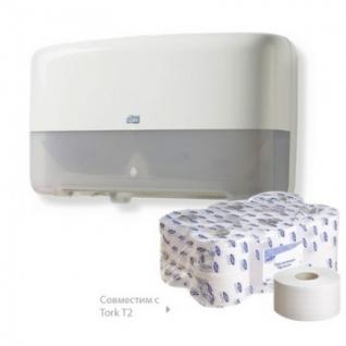 Бумага туалетная д/дисп Luscan Professional 2сл бел втор втул 170м 12рул/уп