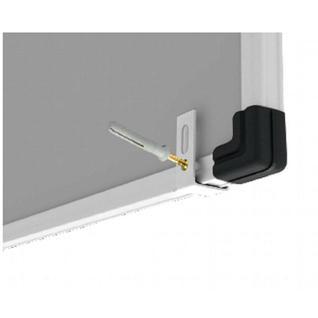 Доска магнитно-маркерная Attache Economy 60х90 мет.бел. профиль черн.угл
