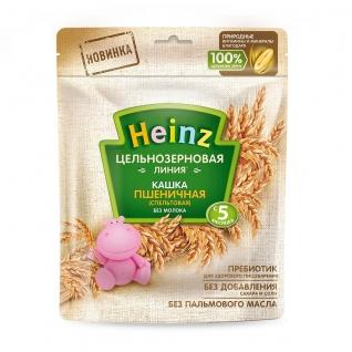 Безмолочная каша Heinz - Пшеничная, цельнозерновая (с 5 мес.), 180 гр.