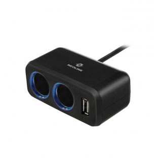 Разветвитель на 2 прикуривателя 1 USB Neoline SL-211 Neoline