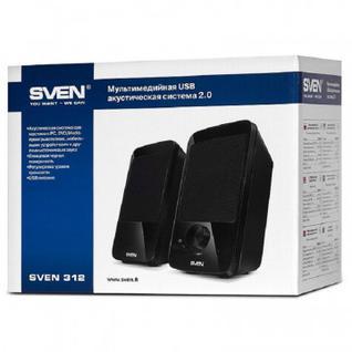 Акустическая система SVEN 312 4 Вт, питание USB, чёрный