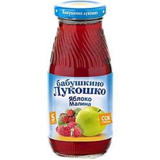 """Сок """"Бабушкино Лукошко"""" - Яблочно-малиновый (с 5 мес.), 0.2 л Бабушкино лукошко"""