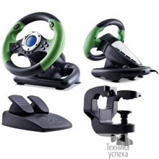 Sven SVEN DRIFT SV-063010 Игровой руль, Vibration Feedback, рулевое колесо, педали, 8поз.перекл, 10кн., USB