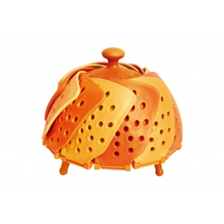 Складная пароварка Лотус, цвет оранжевый