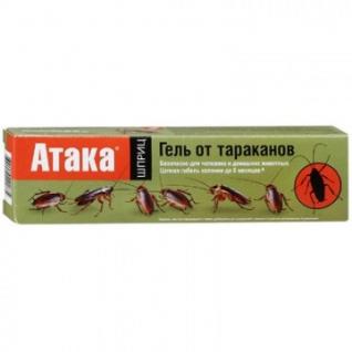 Средство от насекомых АТАКА гель от тараканов, шприц, 20 мл