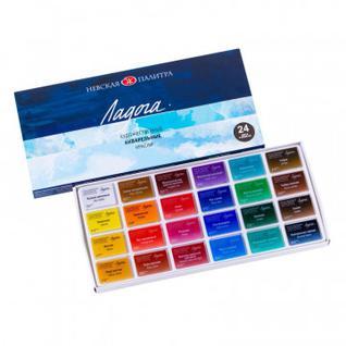 Краски акварельные Ладога 24 шт х2,5 мл, 2041026