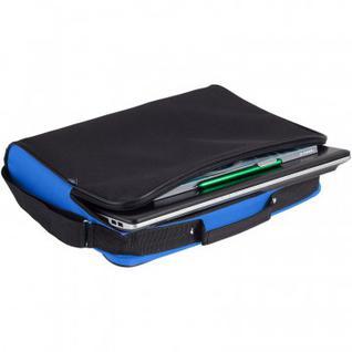 Сумка для документов Unit Metier, черная с синей отделкой 7594.44