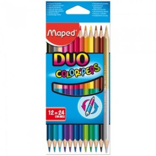 Карандаши цветные Maped 24цв 3гр L=175мм D=7мм d=2.90 12 шт COLOR?PEPS 8296 37856138