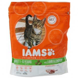 IAMS Iams® ProActive Health™ Adult для кошек с ягненком 300 г