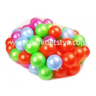 Пластмассовые шарики Нордпласт d-8см 100 штук в сетке