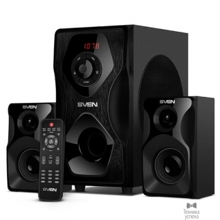 Sven SVEN AC MS-2055, черный (55Вт, FM-тюнер, USB/SD, дисплей, ПДУ, Bluetooth)