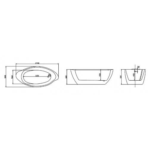 Отдельно стоящая ванна LAGARD Versa Treasure Silver 6944901 1