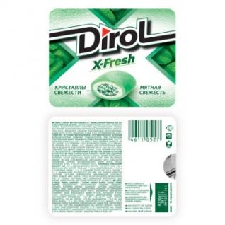 Жевательная резинка DIROL X-Fresh Мятная свежесть 16 г