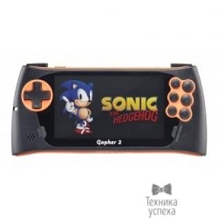 """Sega SEGA Genesis Gopher 2 LCD 4.3"""", +500 игр (оранжевая) ConSkDn50"""