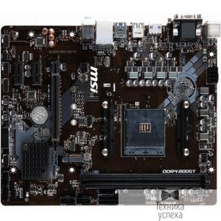 MicroStar MSI B450M PRO-M2 V2 RTL Socket AM4, AMD®B450, 2xDDR4-2667, 1xPCI-Ex16x, 2xPCI-Ex1x, D-SUB+DVI-D+HDMI, 4xSATA3(RAID 0/1/10), 1xM.2, 8 Ch Audio, GLan, (2+4)xUSB2.0, (4+2)xUSB3.1, 1xPS/2, mATX