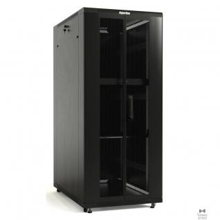 Hyperline Hyperline TTB-3268-DD-RAL9004 Шкаф напольный 19-дюймовый, 32U, 1610x 600х 800 мм (ВхШхГ), передняя и задняя распашные перфорированные двери (75%), ручка с замком, крыша нового типа, цвет черный