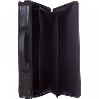 Портфель для документов кож/зам 380x290x60 Паритет мод.892р коричнев.