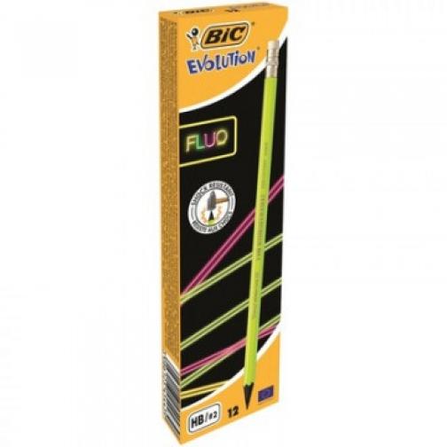 Карандаш чернографитный EVOLUTION FLUO пластиковый HB с ласт. 37875334 4