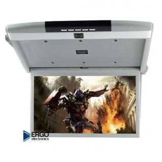"""Автомобильный потолочный монитор 15.6"""" со встроенным Full HD медиаплеером ERGO ER15S (серый) Ergo"""