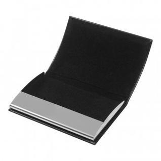 Визитница карманная черного цвета на 20 визиток 80104