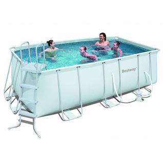 Bestway Каркасный бассейн прямоугольный Bestway 56456, 4,12 x 2,01 м