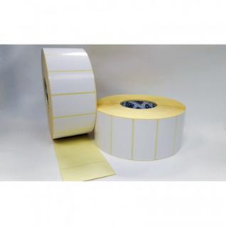 Термотрансферные этикетки полуглянец 80х40мм, 5000 шт в рул.8 рул/уп
