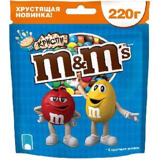 Конфеты Драже M&M`s криспи 220г