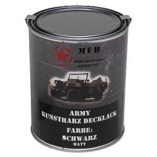 MFH Лак защитный Army, цвет матово-черный, 1 л.