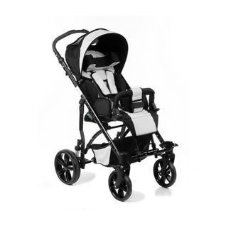 АРМЕД Кресло-коляска для детей-инвалидов и детей с заболеваниями ДЦП с принадлежностями: VCG0E J (пневмо, синий-серый)