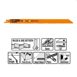 Пилки сабельные СМТ 5 штук для дерева и металла(BIM) 300x1,8-2,6x10-14TPI JS1222VF-5
