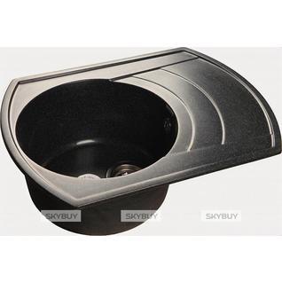 Мойка кухонная GranFest Rondo GF-R650L черный