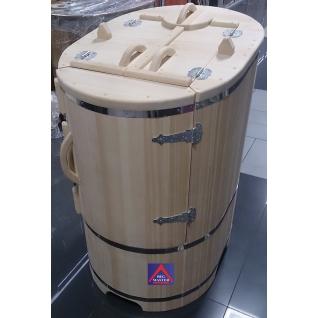 Кедровая бочка овальная со скосом с парогенератором в комплекте профессиональная