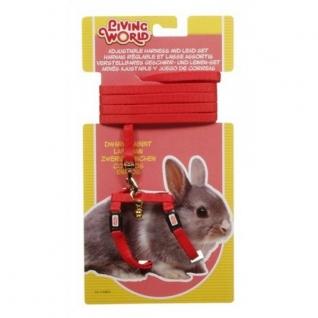 Hagen Шлейка с поводком для карликовых кроликов, красная