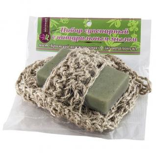 Мочалка с мылом Можжевельник из джута