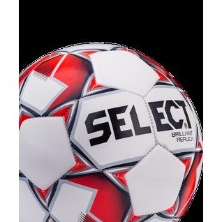 Мяч футбольный Select Brillant Replica №5 белый/красный/серый (5)