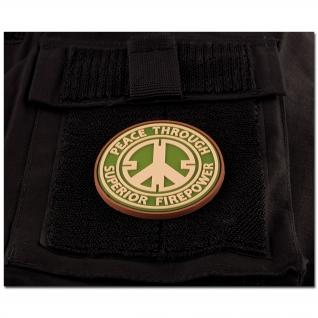 Jackets To Go Нашивка 3D Peace Through Superior Firepower, цвет мультикам