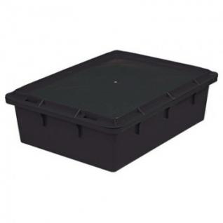Контейнер пластиковый 532х400х141мм сплош/сплош черный (арт.306)