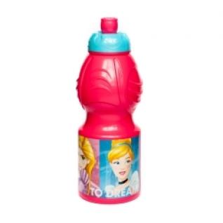 STOR Бутылка пластиковая (спортивная, фигурная, 400 мл). Принцессы Дружные приключения