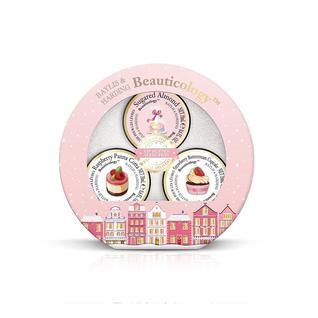 Набор Beauticology Special Delivery Pink Бальзамы для губ 3х20 мл (Панна котта, Миндаль, Капкейк) Baylis&Harding