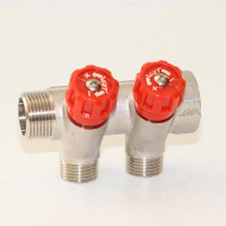 Коллектор VRT 3/4''x1/2'' с регулировочными вентилями (2 вых)