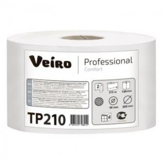 Бумага туалетная д/дисп Veiro Comfort с ЦВ 2сл бел втор 215м 6рул/уп. TP210